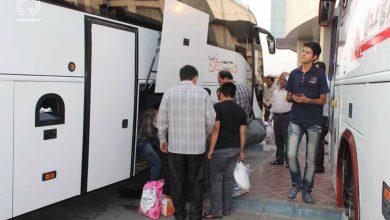تصویر جزییات پیشفروش بلیت اتوبوسهای اربعین برای بازگشت زائران