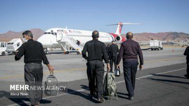 تصویر تاخیر پرواز تبریز- تهران به دلیل اعتراض مسافران