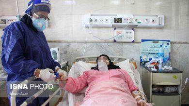 تصویر بستری ۱۰۰۹ بیمار کرونایی در آذربایجان شرقی
