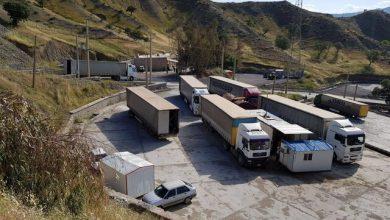 تصویر افزایش ۸۵ درصدی تردد ناوگان باری از پایانه های مرزی آذربایجان غربی